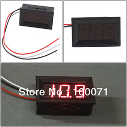 Mini DC 0V To 99.9V Red LED Digital Panel Volt Voltage Meter Voltmeter [18751|01|01](China (Mainland))