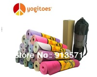 Yogitoes towel, 100% TPE yoga mat 173x61cm, 8 colors, free shipping