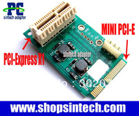 mini pci-e to PCI-e express 1X Riser Extender adapter Card+USB 4pin port