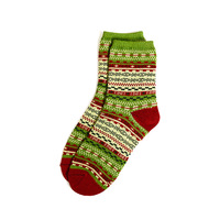 5 double cotton thread lovers design national trend knee-high cotton socks christmas socks