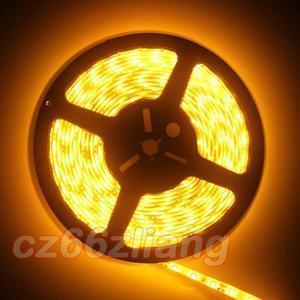 3528 Ambrer Orange Waterproof 5M 300Leds 16ft SMD LED Strip 60leds M 500CM DIY
