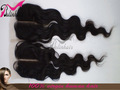 body wave center part brazilian virgin hair cheap lace front closure(4*4)