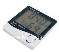 Freeshipping!!! 10pcs Digital LCD Thermometer Humidity Hygrometer Meter Clock