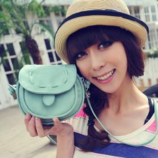 New 2014 Fashion Handbag PU Leather mobile phone candy color mini women messenger bag for vintage girls shoulder bag, 14 colors