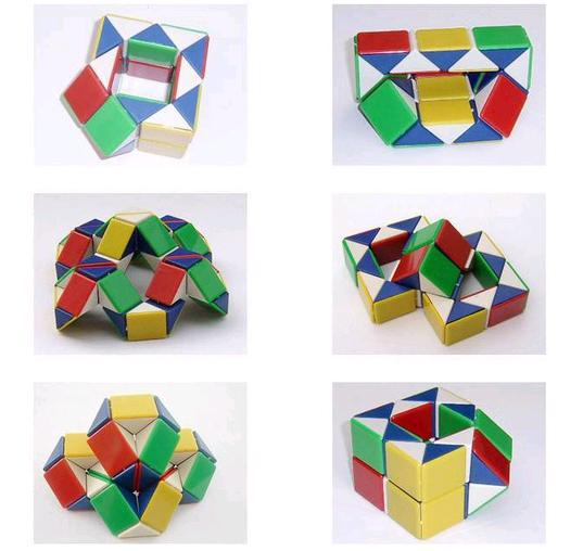 [EMS Free Shipping] Wholesale Snake Magic Cube IQ Puzzle Cube Children's Plastic Toys (SX-159E)(China (Mainland))