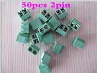 100pcs 2 Pin Screw Terminal Block Connector 5mm Pitch