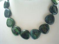 2631 beautiful heart phoenix stone necklace