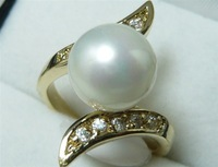 South Seas 10mm white shell pearl ring revision birthday gift 101