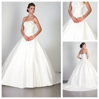 Zipper Up Outdoor Church Mid Back Dropped Waist Ruched Satin Princess Sleeveless Button Trapless Wedding Dress