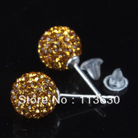 Dainty Topaz Crystal 925 Silver Earrings Stud
