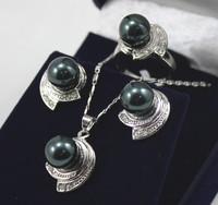 South Seas sallei pearl 10mm black shell pearl set gift 71