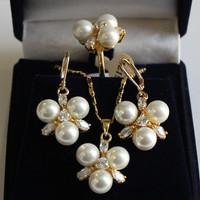 South Seas sallei pearl 8mm white shell pearl set birthday gift 64
