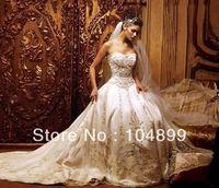 2013 Newest white/ivory wedding dress custom size 2-4-6-8-10-12-14-16-18-20-22+++
