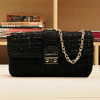 Free shipping!!!fashion bead sequin lady bag gold chain shoulder bag (S399)
