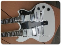 Wholesale Guitars Custom Shop -1275 Double Neck Electric Guitar In White Musical Instruments