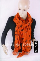 Free Freight women's scarf autumn and winter nice modern  style long design silk scarf Seven-scarf-024