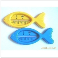 Wholesale free shipping Lovely Plastic Float Floating Fish Toy Baby Bath Tub Water Sensor Thermometer