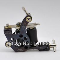 Rings Pattern Cast Iron Frame 8 Wrap Coil Dual-coiled Tattoo Machine Liner free shipping