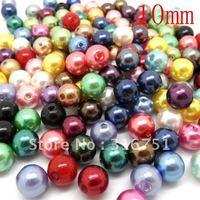 Free Shipping 300 PCs Mixed Acrylic beads Pearl Imitation Round Beads 10mm Dia. (W00816)