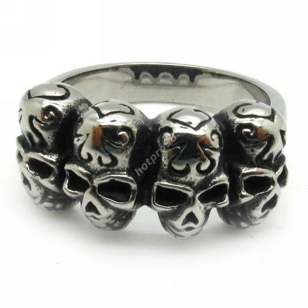 Silver Rings For Boys Boys silver biker spade skull