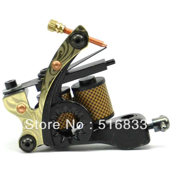 Supper Tattoo Machine Gun Lin for Lining and Shading 8 Warp Coils free shipping(China (Mainland))