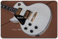 Free shipping!! New Arrival G Custom Left Hand Electric Guitar in White