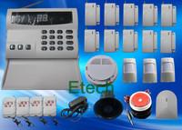 Wireless Home Security Alarm Systems Kit Auto Dial Burglar DIY Home Alarm System 1 Set EMS Freeshipping  S224