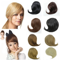 Free Shipping 2Clips Synthetic Fringe Hair Extension Pieces Color Black Blonde Brown Clip In On Bnags Fringe 1Pcs,B2