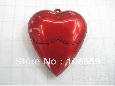 Christmas Gift Heart USB 2.0 Flash Pen Drive 1gb 2gb 4g 8g 16g with Free Laser Logo by Free Shipping,100% Full capacity Gurantee(China (Mainland))