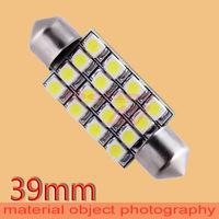 50pcs 39mm 16 SMD Pure White Dome Festoon 16 LED Car Light Bulb Lamp Interior Lights C5W Led