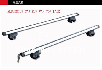 2 pcs Aluminium Car Van SUV top rack roof luggage rack shelf  with lock Free shipping