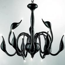 Free shipping 12 lights fashion Swan chandelier modern lamp red black white silver swan light