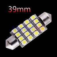 100pcs 39mm 16 SMD Pure White Dome Festoon 16 LED Car Light Bulb Lamp Interior Lights C5W Led
