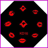 Free Shipping   10 pieces/lot    Nail Stamp Plate   KD16   Sexy Lips Series  Nail Image Plates