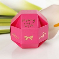 Free Shipping Wholesale Exquisite Round Wedding Ceremony Supplies Favors Candy Gifts Chocolate Boxes OUTLET (120pcs/lot)