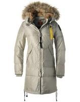 Women long bear down parka warm winter jackets beige,black,army green,XS,S,M,L