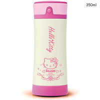 350ml free shipping 5 pcs/lot Cartoon hermoses hello kitty Double stainless steel vacuum vacuum cup Doraemon vacuum flask 350ml