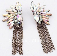 Wholesale on sale 2013 new arrival Exaggerated fashion luxury shine their vintage Tassel Earrings
