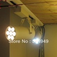 10pcs/lot 110-240V Non-diammable Black 7W Led Track Light,Spot Wall Lamp,Led Soptlight free shipping fedex