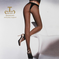 Free shipping Core-spun Yarn t transparent pantyhose female sexy 88sqm ultra-thin bikini stockings