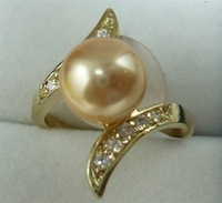 South Seas 10mm gold sallei pearl ring revision gift 106