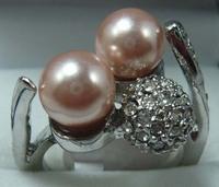 South Seas 8mm purple shell pearl ring silver gift 84