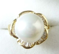 South Seas 12mm white shell pearl ring revision gift 25