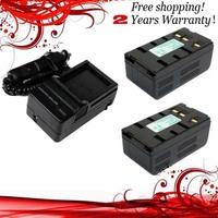 New 4200mAh 2x Battery+Charger for JVC BN-V22 BN-V11U, BN-V12, BN-V12U, BN-V14U, BN-V15, BN-V18U, BN-V20, BN-V20U