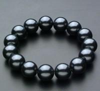 South sea shell bead 12mm black shell pearl bracelet female gift 4