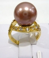 South Seas 10mm purple shell pearl ring revision gift 8