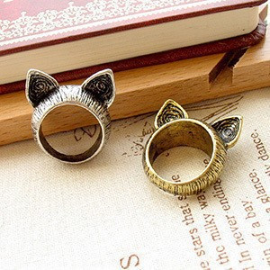1011 Min.order $10 (Mix order) Fashion accessories vintage personality fashion vintage cat ear ring finger ring