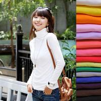 FS581 New Fashion Women's Long-sleeve Sweater All-match Velvet White Basic Shirt