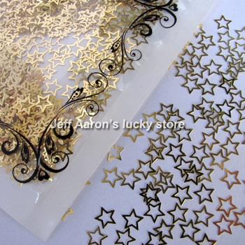 kawaii design 3d metal star style nail art sticker decoration nail decal cell phone decoration drop shipping