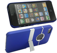 Deluxe Plastic Case for iPhone 5 Kickstand Design Hard Back Protective Shell Cover